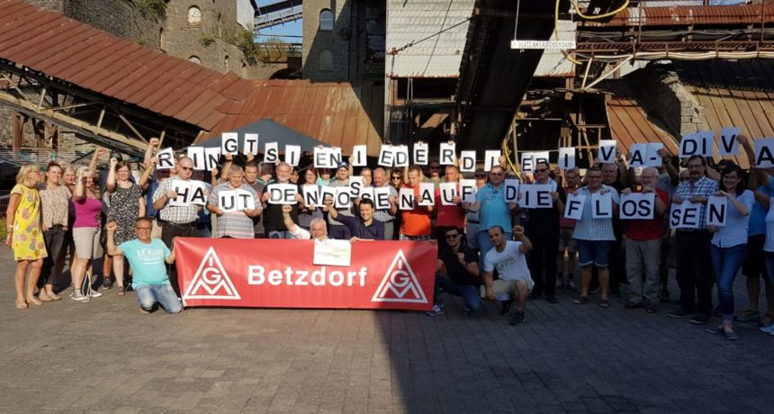 Delegiertenversammlung der IG Metall Betzdorf steht fest hinter den Streikenden