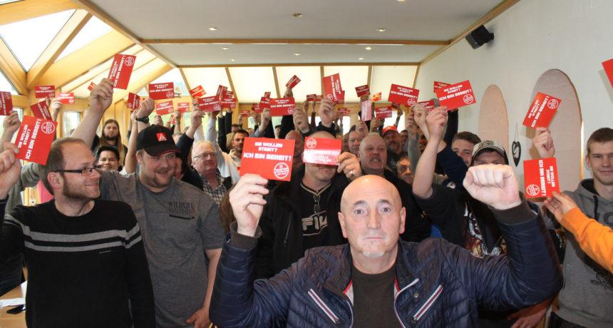 Aufruf der IG Metall zu Solidaritätsmeeting und Protestkundgebung