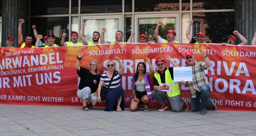Invito a partecipare alla protesta dei dipendenti in sciopero della RIVA/H.E.S