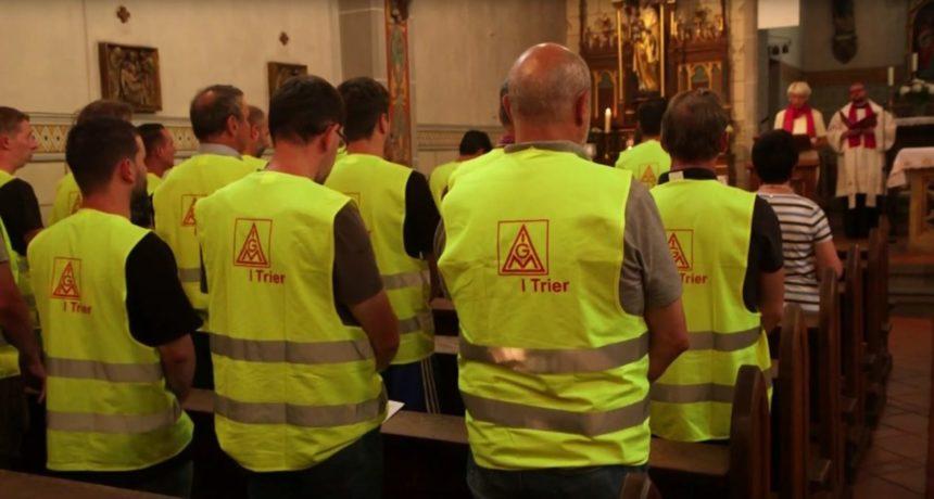 Fairer Lohn und gerechte Verteilung - Fürbittengottesdient der KAB für die Streikenden von RIVA in Horath und Trier