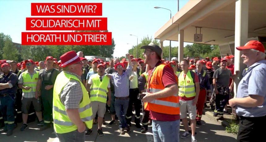 Video Streiktag 4: RIVA – Belegschaften bilden eine Front gegen Tarifflucht