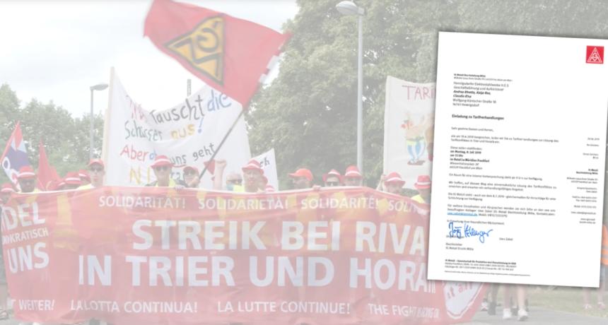 IG Metall fordert RIVA zu ernsthaften Tarifverhandlungen auf