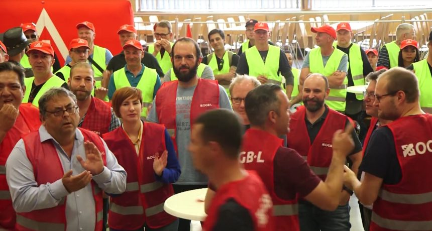 Videoclip: Internationales Soli-Meeting in Luxemburg stärkt die RIVA Streikenden aus Trier und Horath