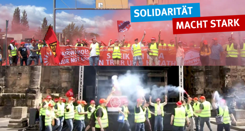 Tarifverhandlungen auch für B.E.S. von RIVA gefordert ++ IG Metall ruft zum Solidaritätsstreik auf!
