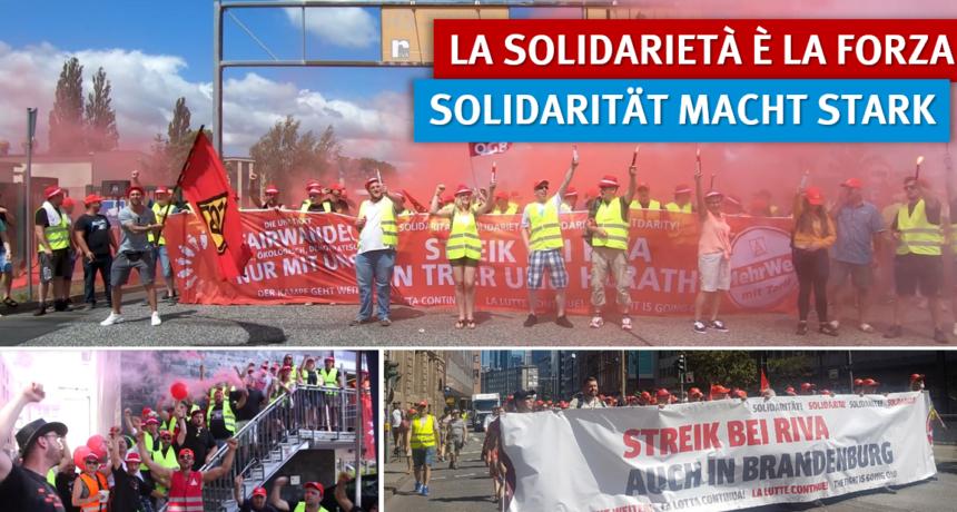 #RIVA bricht in Brandenburg ein – Erster Erfolg der Solidarität: Tarifverträge der ostdeutschen Stahlindustrie voll anerkannt