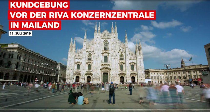 Videoclip: Dalla Germania a Milano - Kundgebung vor RIVA-Zentrale in Mailand