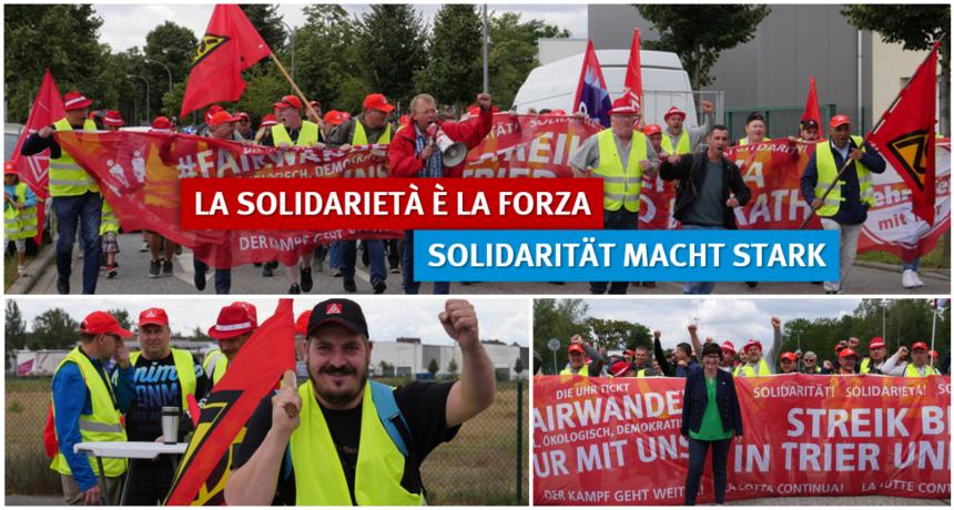 RIVA B.E.S. - Solidaritätsdemonstration für die streikenden Kolleginnen und Kollegen aus Trier und Horath
