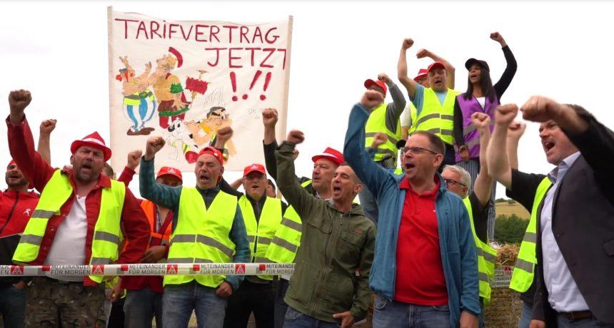 Videoclip: RIVA Streik Trier und Horath – Streikende demonstrieren erfolgreich Stärke