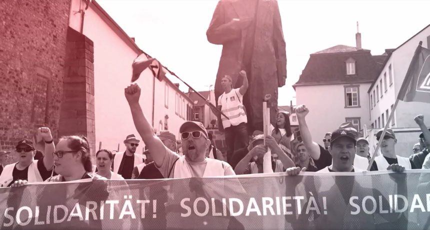 Videoclip: RIVA-Streik geht weiter – Breite Solidarität am 16.8.2019 vor Porta Nigra