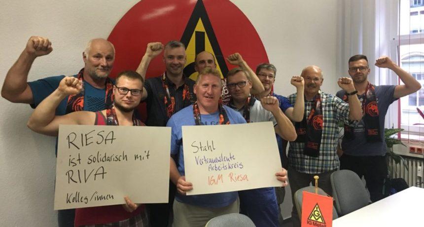 Vertrauensleute der Stahlbetriebe in Riesa solidarisch