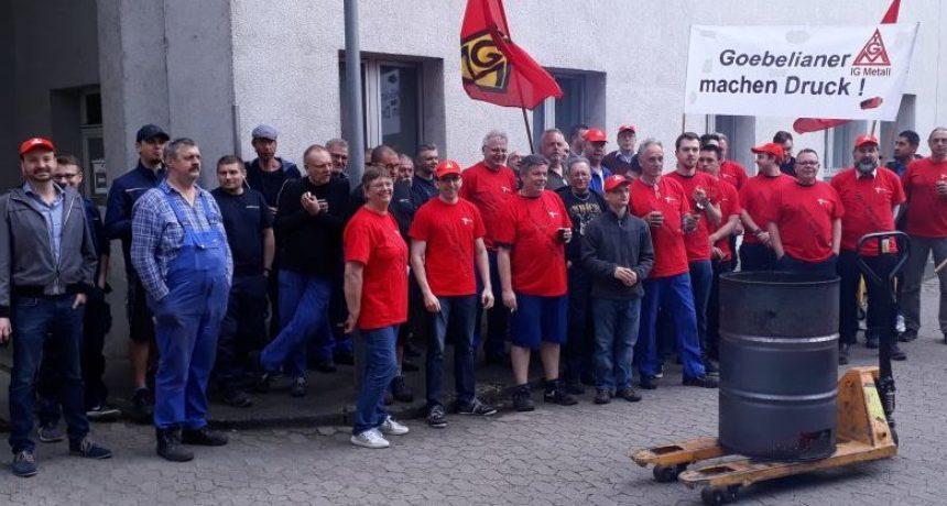 Betriebsräte von Goebel Schneid- und Wickelsysteme in Darmstadt solidarisch