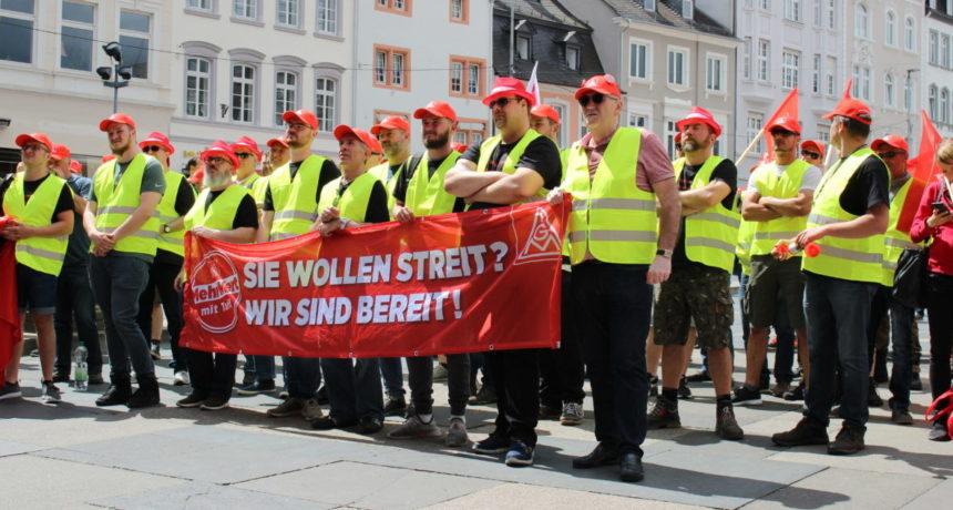 #RIVA Streik – Solidaritätskundgebung am Freitag, den 16.8.2019 ab 11 Uhr vor der Porta Nigra in Trier – kommt alle!
