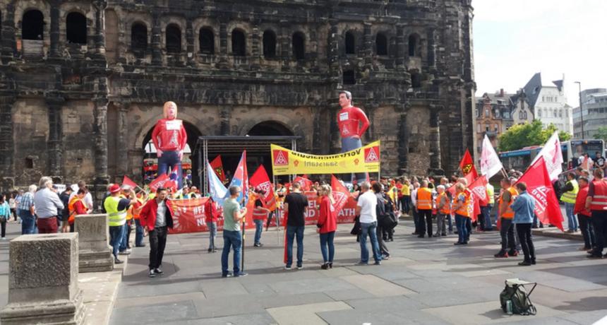 Streik bei Riva/H.E.S. in Trier und Horath - Unterstützung und Solidarität aus Brandenburg und ganz Deutschland