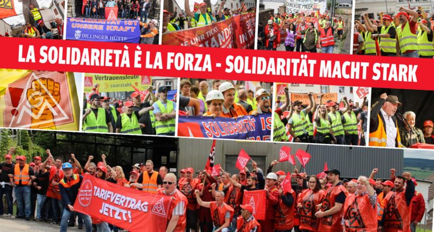 Riva-Streik Soli Meeting heute 20 Uhr IG BAU Bildungsstätte Steinbach