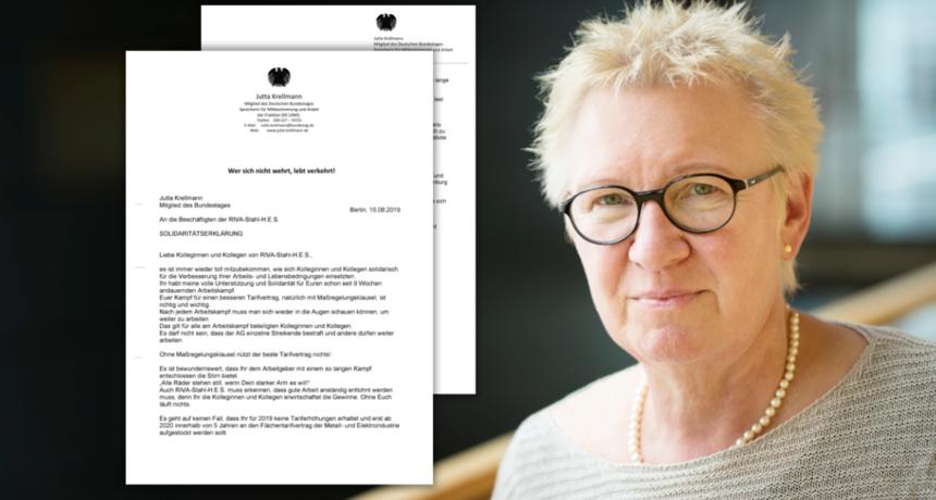 """Solidarität aus dem Bundestag - Jutta Krellmann: """"Wer sich nicht wehrt, lebt verkehrt!"""""""