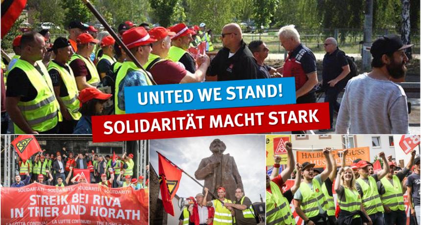 Streiknachrichten #15: Breite Solidarität und große Entschlossenheit - United we stand!