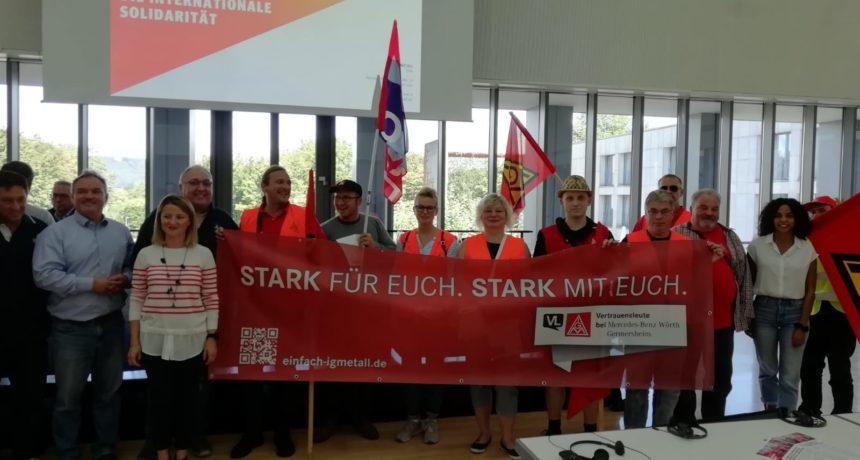 Daimler Vertrauensleute zeigen sich solidarisch - Unterstützung für Streik bei Riva in Horath und Trier