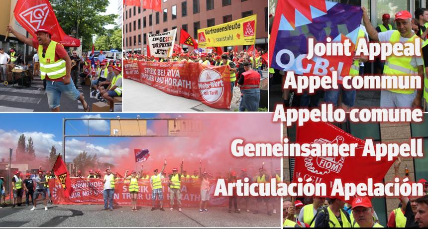 Internationale Solidarität: Vorbereitungen für die Solidaritäts- und Protestwoche laufen in allen RIVA Werken auf Hochtouren.