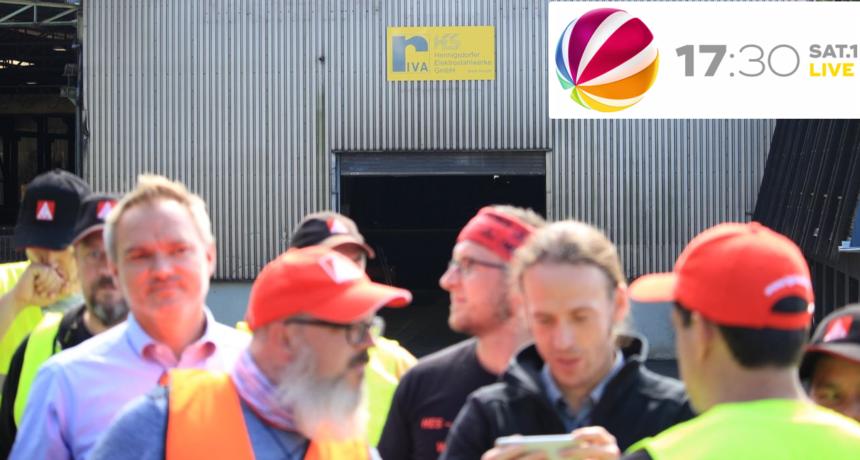 17:30 SAT.1 LIVE: Stahlarbeiter streiken seit Wochen