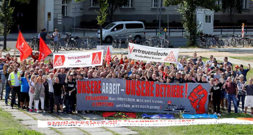 Vertrauensleute von Thyssenkrupp Steel, Salzgitter Flachstahl, Arcelor Mittal Bremen, Dillinger Hütte & Saarstahl solidarisch