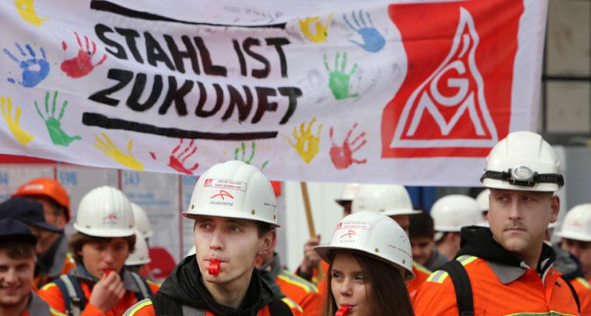 Betriebsrat und Vertrauensleute der Arcelormittal Hamburg: Volle Solidarität mit den Streikenden