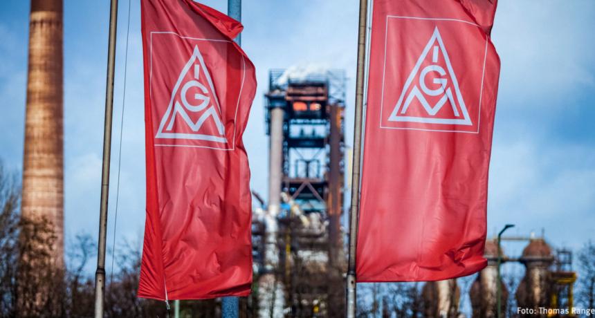 Duisburger Metall- und Stahlarbeiter solidarisch mit den Streikenden bei RIVA