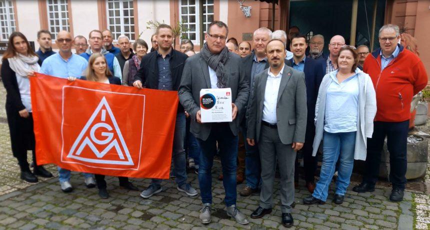 """""""Ihr kämpft für eine gute und gerechte Sache"""" - Solidarische Grüße von der Ortsvorstandsklausur der IG Metall Koblenz"""