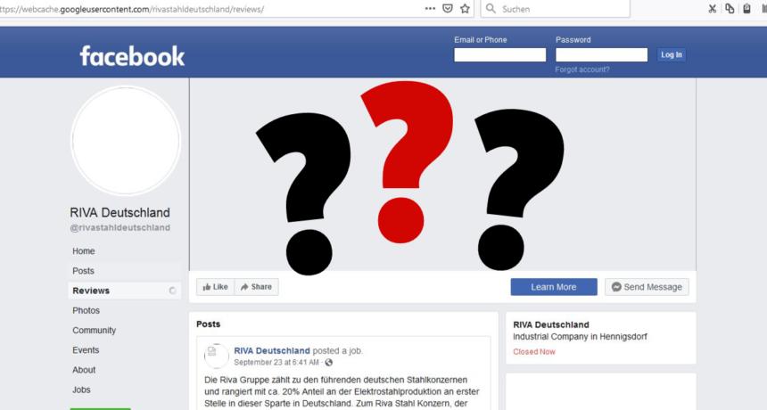 Nach Online-Protest - RIVA Deutschland nimmt Facebookseite vom Netz