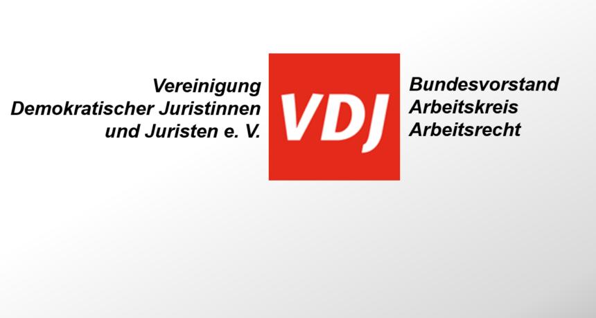 Solidarität von der Vereinigung Demokratischer Juristinnen und Juristen